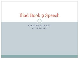 Iliad Book 9 Speech