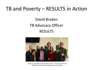 TB and Poverty – RESULTS in Action