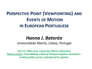 Perspective  point,   vantage  point , Viewpointing  in language