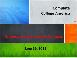 Tennessee's Community Colleges