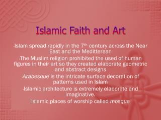 Islamic Faith and Art