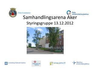 Samhandlingsarena Aker Styringsgruppe 13.12.2012