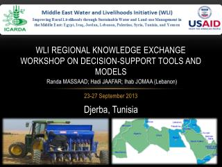WLI Regional Knowledge Exchange Workshop on Decision-support Tools and Models