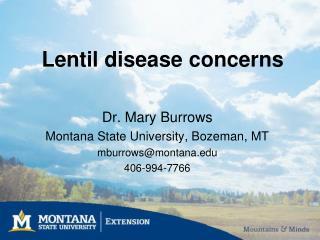 Lentil disease concerns