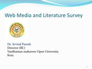 Web Media and Literature Survey