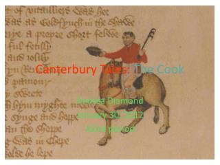 Canterbury Tales:  The Cook