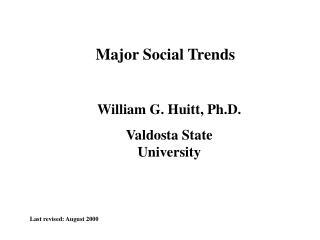 Major Social Trends