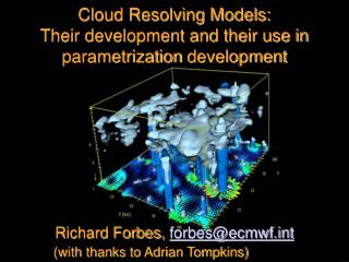 Cloud Resolving Models: Their development and their use in  parametrization  development
