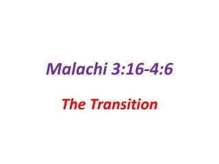Malachi 3:16-4:6