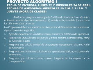 proyecto algoritmo i