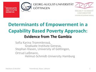 Determinants of Empowerment in a  Capability Based Poverty Approach: Evidence from The Gambia