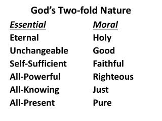 God�s Two-fold Nature