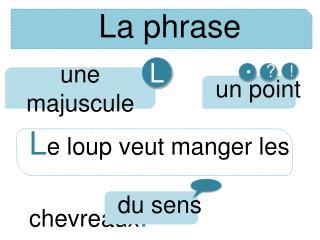 La phrase