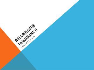 Bellringers Tangerine 5