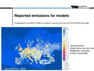 Reported emissions for models