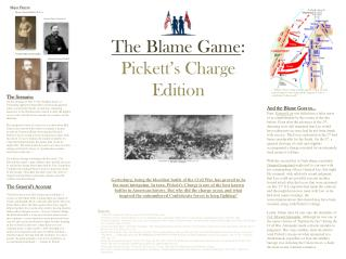The Blame Game :  Pickett's Charge Edition
