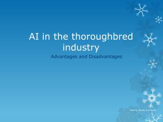 AI in the thoroughbred industry
