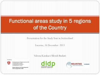 Functional areas study in 5 regions of the Country