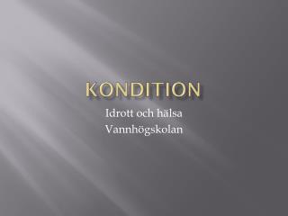 Kondition