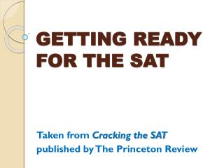 GETTING READY FOR THE SAT
