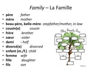 Family  – La  Famille