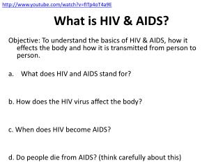 What is HIV & AIDS?