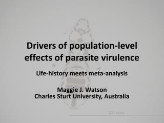 Drivers of population-level effects of parasite virulence