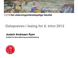 Osloprøven i lesing for 6. trinn 2012