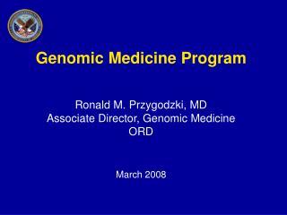 Genomic Medicine Program Ron