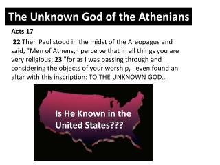 The Unknown God of the Athenians