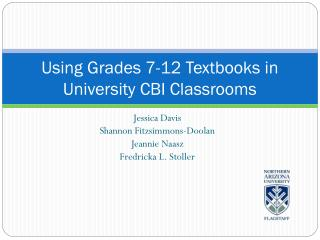 Using Grades 7-12 Textbooks in University CBI Classrooms