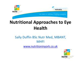 Nutritional Approaches to Eye Health