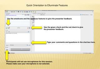 Quick Orientation to  Elluminate  Features