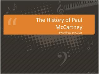 The  History  of Paul McCartney