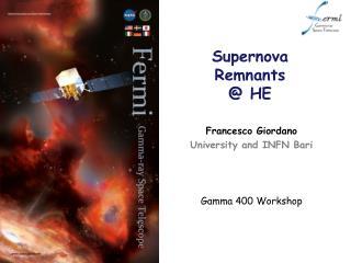 Supernova Remnants @ HE