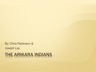 The  Arikara  Indians