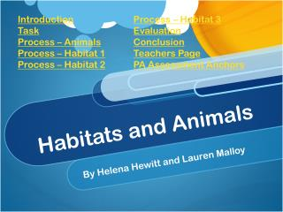 Habitats and Animals