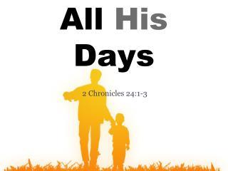 2 Chronicles 24:1-3