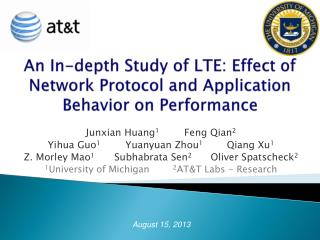 An In-depth Study of LTE: Effect of Network Protocol and Application Behavior on Performance