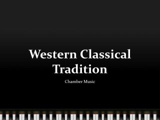 Western Classical Tradition