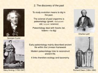 2. The discovery of the past