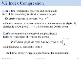 V.2 Index Compression