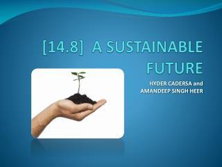 [14.8]  A SUSTAINABLE FUTURE