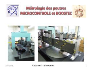 Métrologie des poutres  MICROCONTROLE et BOOSTEC