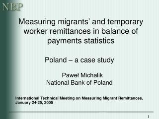 Measuring migrants