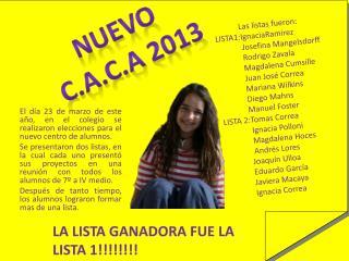 Nuevo c.a.c.a  2013
