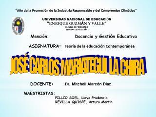 Jose Carlos Mariategui y la educacion