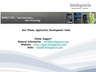 Get iPhone Application Development India