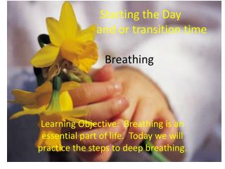 Starting  the Day 			and  or transition time Breathing