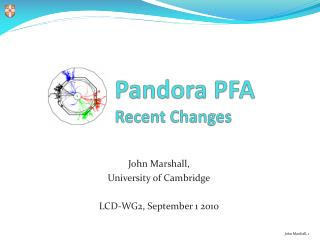 Pandora PFA  Recent Changes